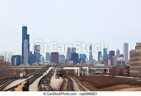 La línea aérea de Chicago - csp5966821