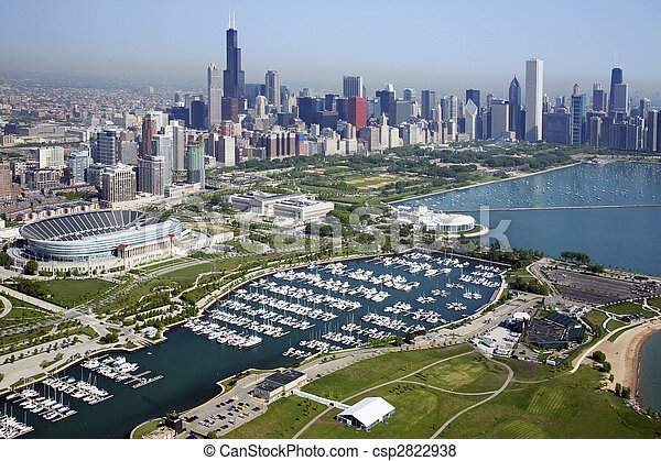 El horizonte de Chicago - csp2822938