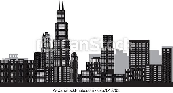 El horizonte de Chicago - csp7845793