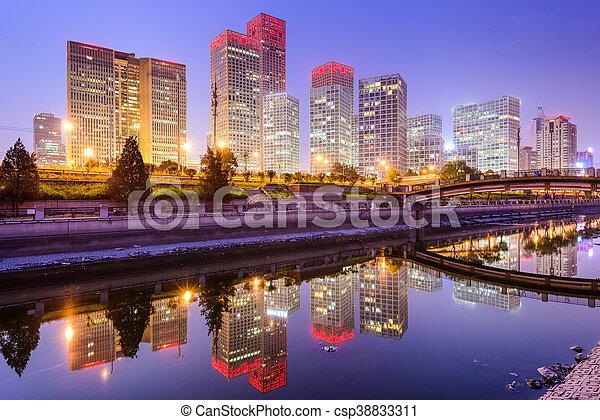 Pekín, horizonte chino - csp38833311