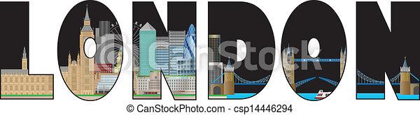 La ilustración de colores de Londres - csp14446294