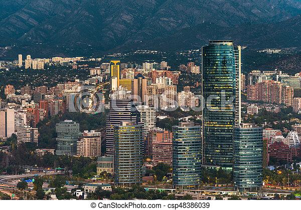 Skyline de Santiago de Chile - csp48386039