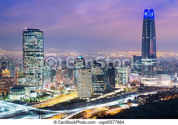Skyline de Santiago de Chile - csp40577664