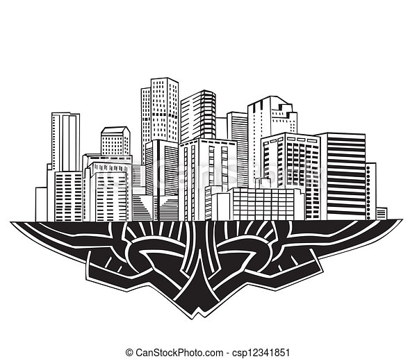 Denver, CO Skyline - csp12341851