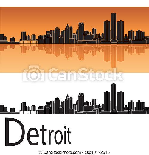 Detroit Skyline - csp10172515