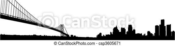 El horizonte de Detroit - csp3605671