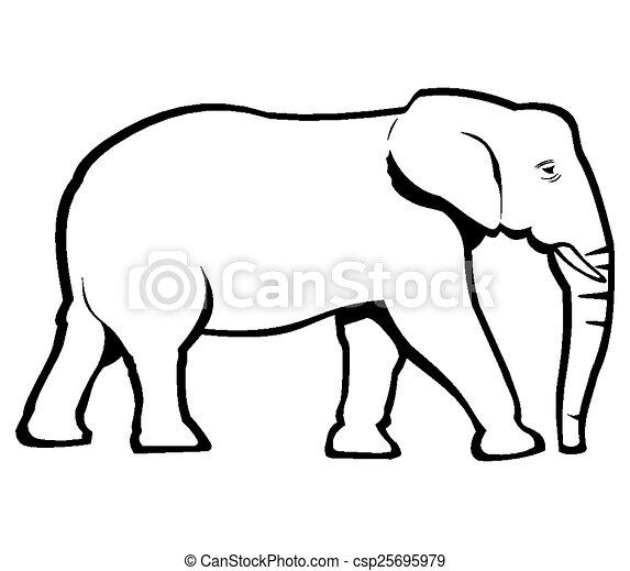 contorno, elefante - csp25695979