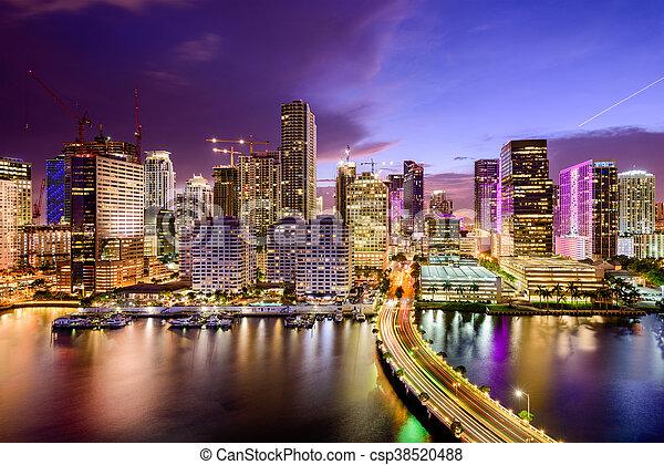 Miami, Florida Skyline - csp38520488