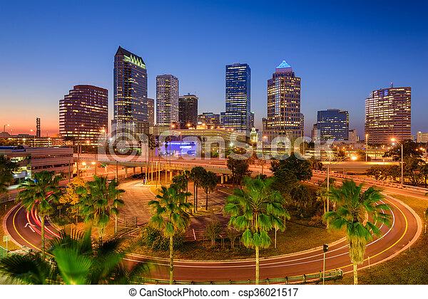 Tampa Florida Skyline - csp36021517