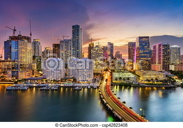 Miami, Florida, Skyline - csp42823408