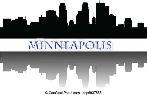 El horizonte de Minneapolis - csp6937885