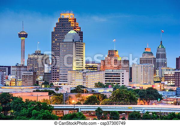 San Antonio Skyline - csp37300749