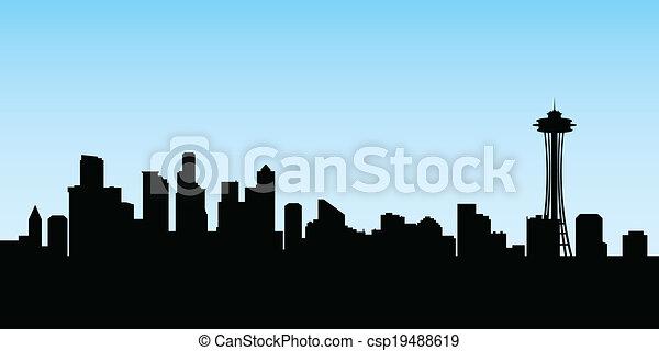 El horizonte de Seattle - csp19488619