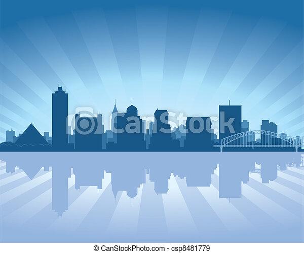 Memphis, Tennessee Skyline - csp8481779
