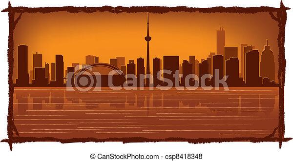 Línea aérea de Toronto - csp8418348