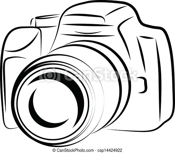 Contour Camera Drawing - csp14424922