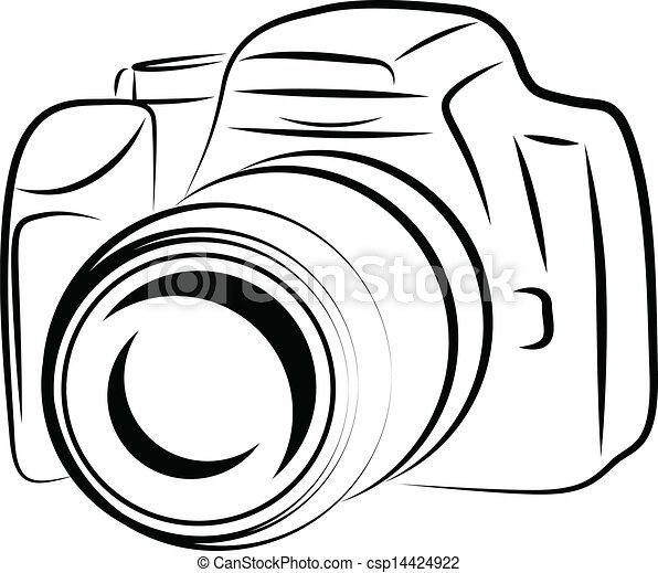 Contour Camera Drawing - csp14424922