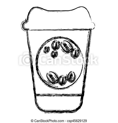 contour coffee drink food icon - csp45629129