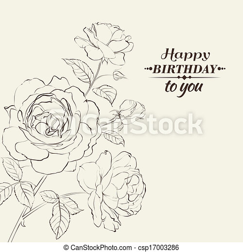 Contour of rose. - csp17003286