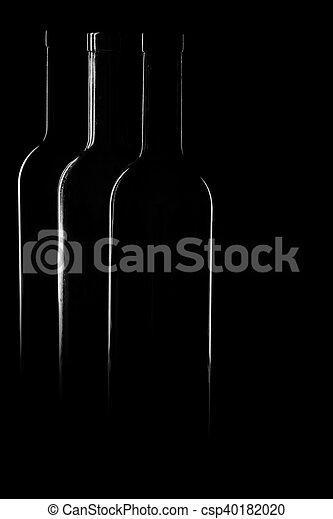Contours of vine bottles - csp40182020
