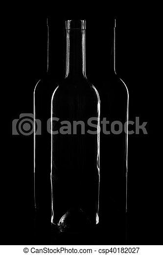 Contours of vine bottles - csp40182027