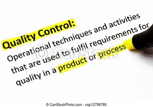 contrôle, définition, qualité - csp12798785
