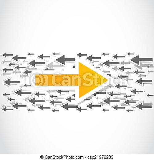contra decision, choice arrow - csp21972233