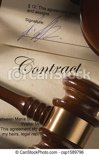 Contract and gavel - csp1589796