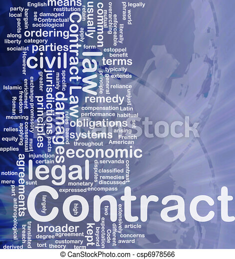 Contract Background Concept Background Concept Wordcloud  Stock