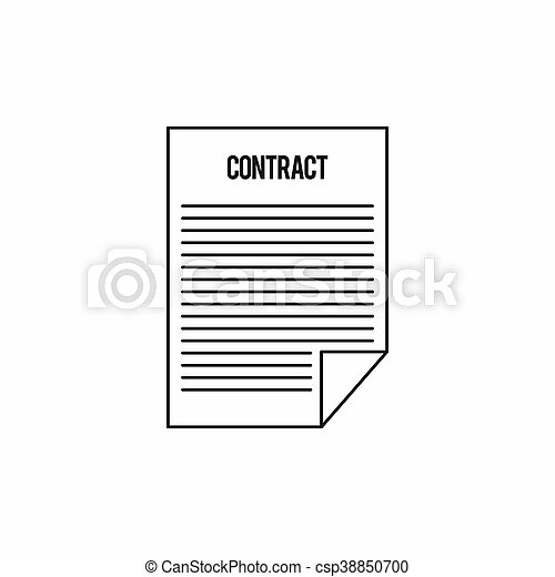 Contract icon, outline style - csp38850700