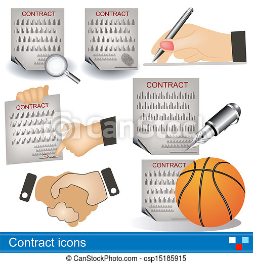 contract icons - csp15185915