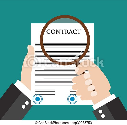 Contract inspection concept - csp32278753