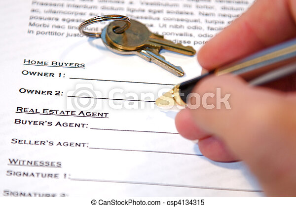 Contract of Home Sale - csp4134315