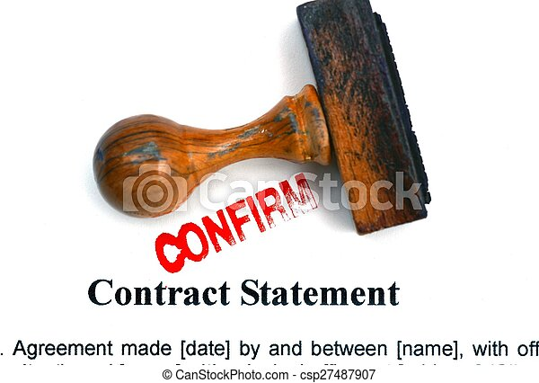Contract statement - csp27487907
