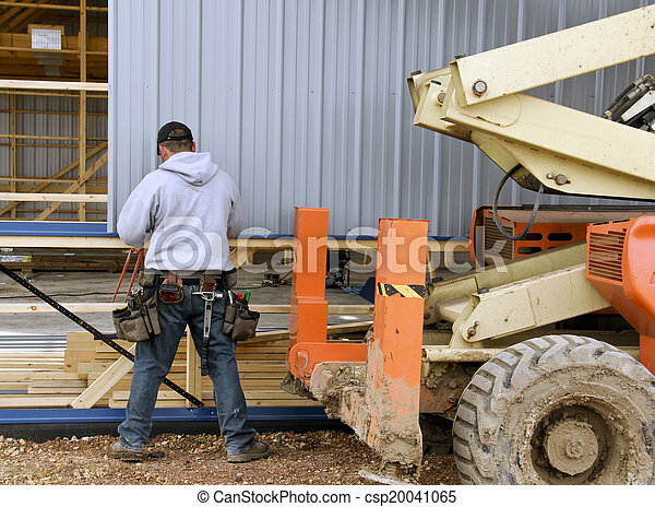 contractor on a construction project - csp20041065
