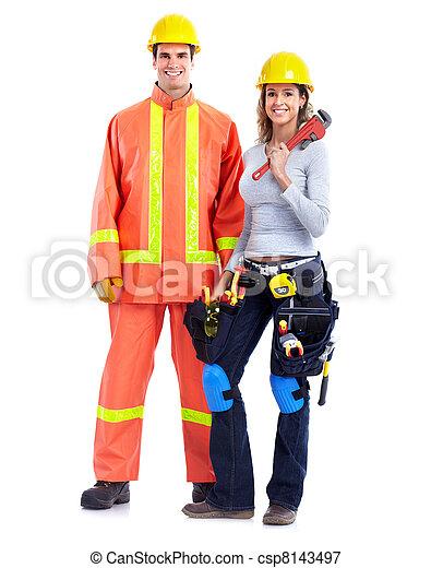 Contractors people. - csp8143497