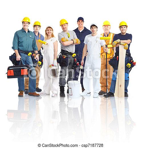 Contractors workers people. - csp7187728