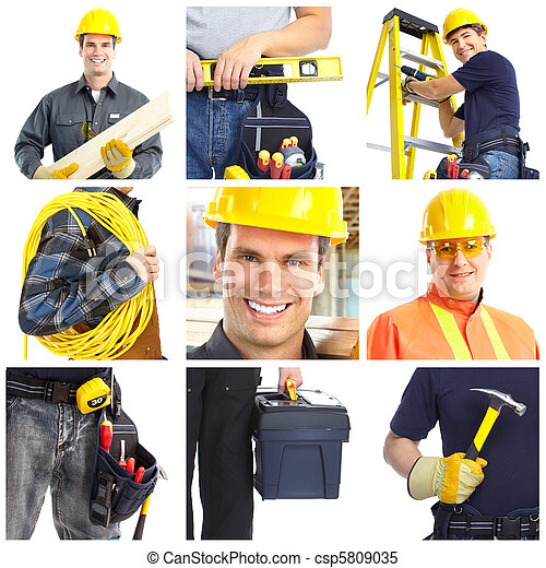 Contractors workers people. - csp5809035