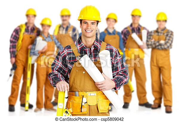 contractors workers people - csp5809042