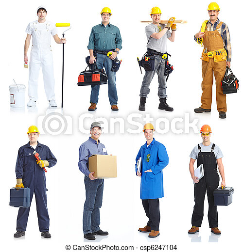 Contractors workers people. - csp6247104