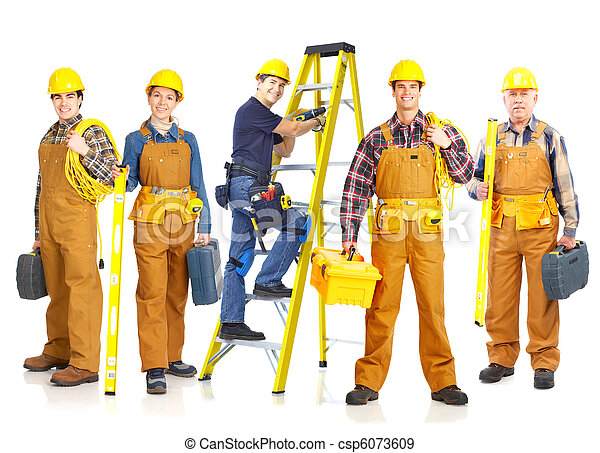 contractors workers people - csp6073609