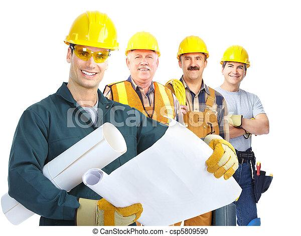 contractors workers people - csp5809590