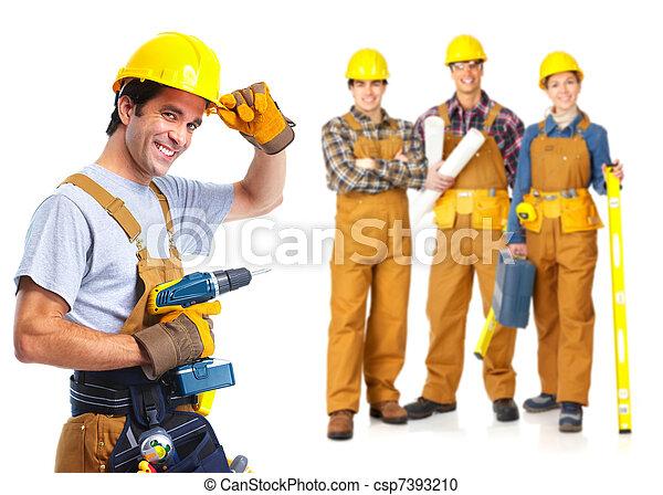 contractors workers people - csp7393210