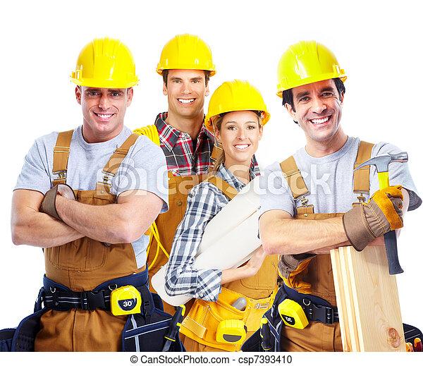 Contractors workers people. - csp7393410