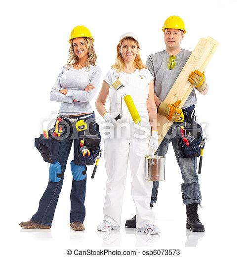 contractors workers people - csp6073573