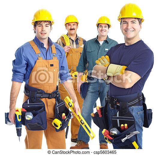 contractors workers  - csp5603465