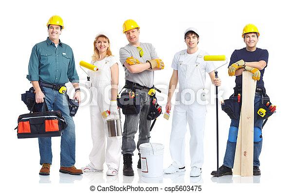 contractors workers  - csp5603475