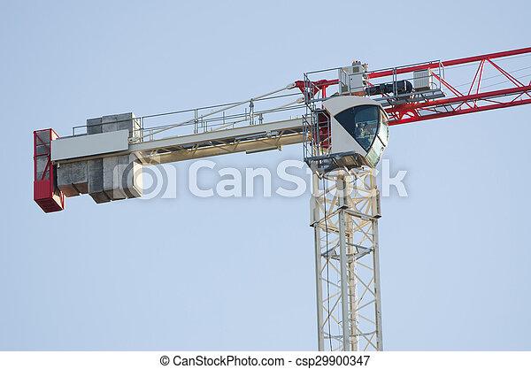 El contrapeso y la grúa de la torre #39;s taxi - csp29900347