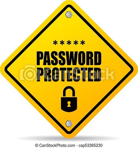 Señal de advertencia protegida por contraseña - csp53365230
