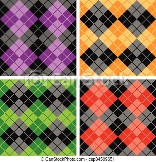 Contrasting Argyle Patterns - csp34509651